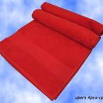 Полотенце с бордюром 70х140 цв ярко-красный.